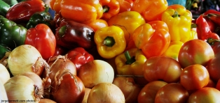 Peppers, Onions & Tomatoes