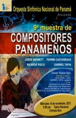 Ninth Panamanian Composer's Concert at National Theater